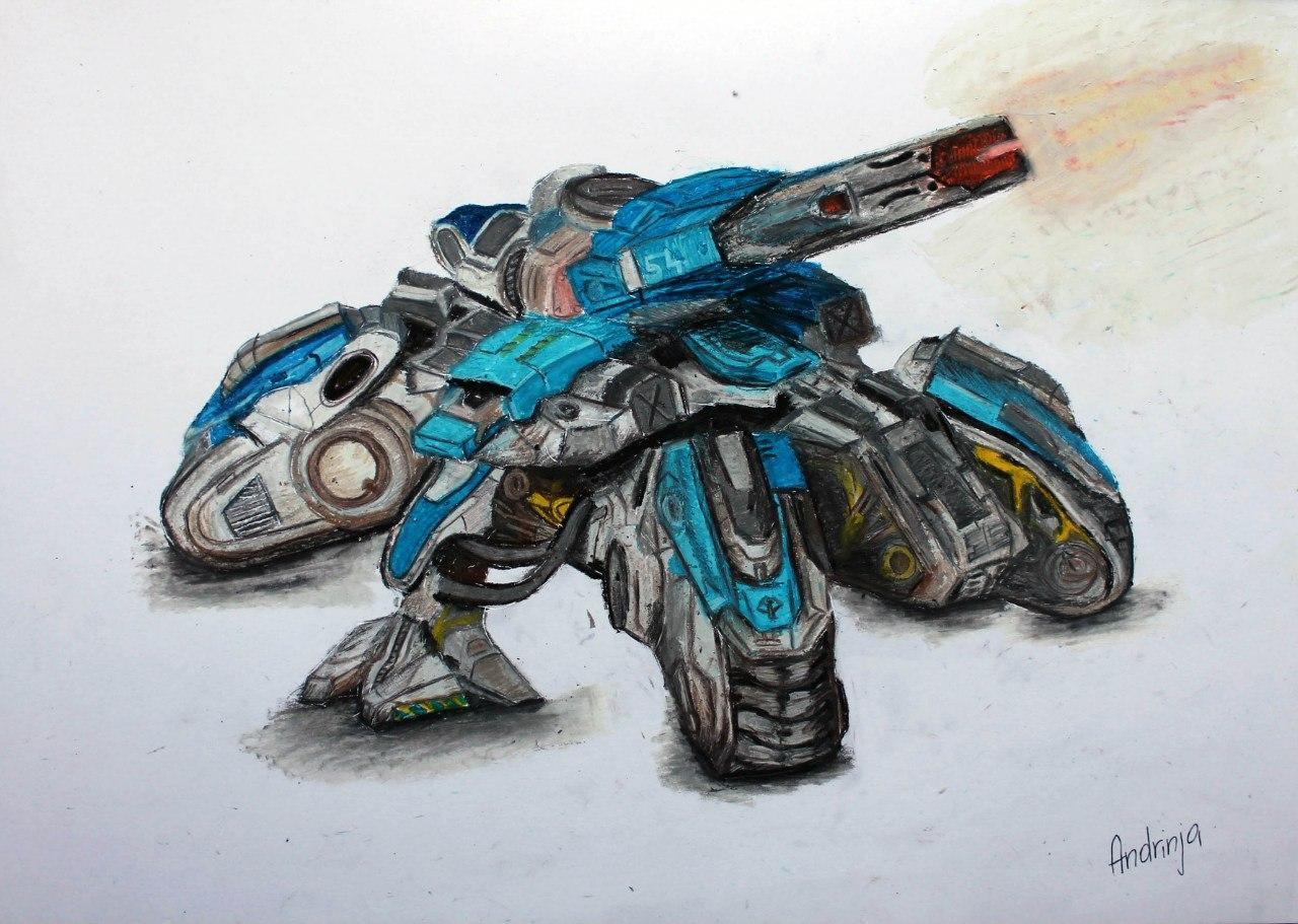 PuYP9OGs4TE.jpg - StarCraft 2: Wings of Liberty Siege Tank, Арт