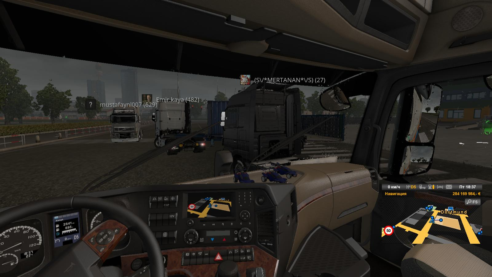покатушки - Euro Truck Simulator 2 аварии, траки