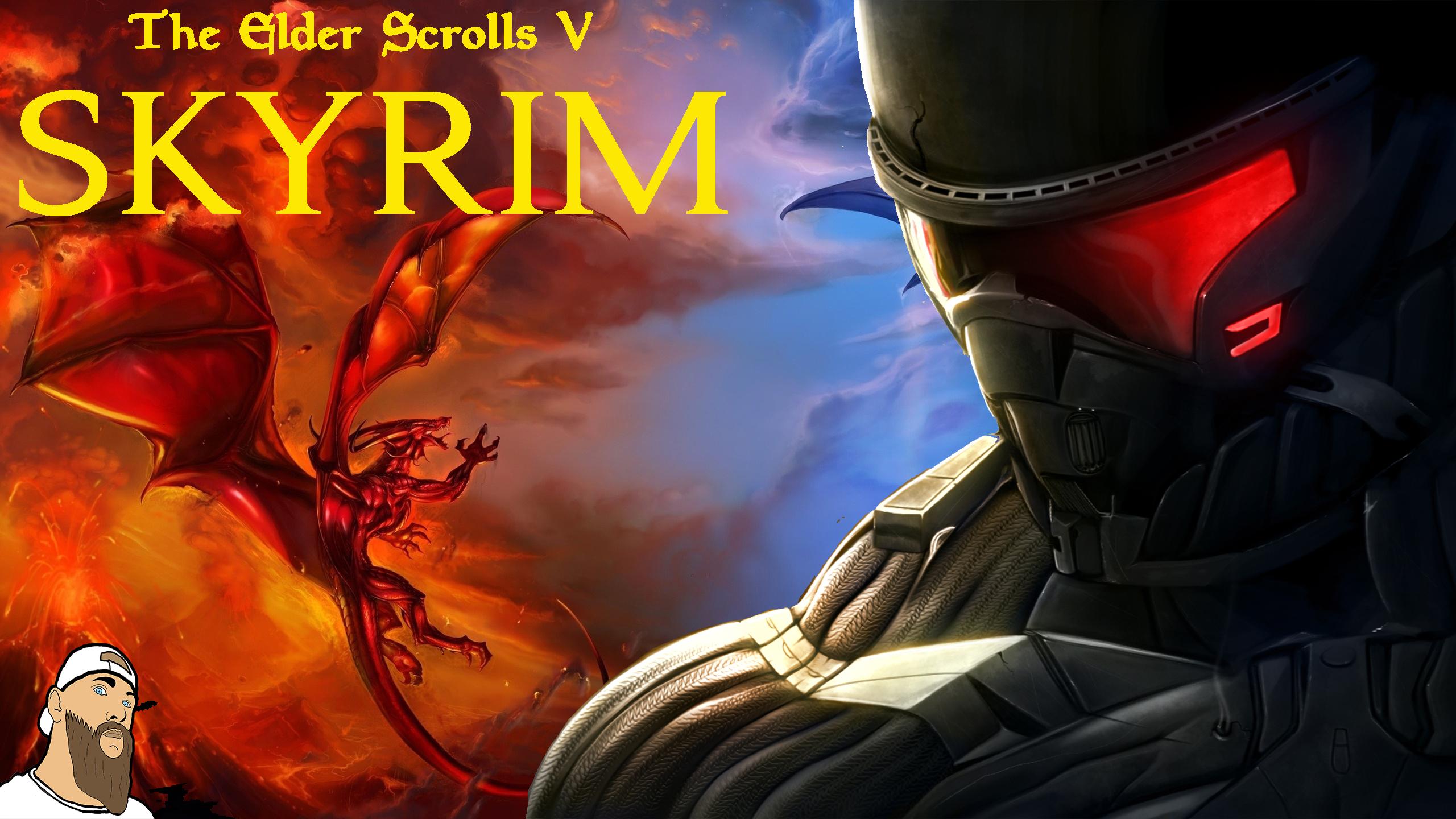 Skyrim VS Crysis - Elder Scrolls 5: Skyrim, the 1440, 2560, 2k, cryengine, full hd, VS, обои