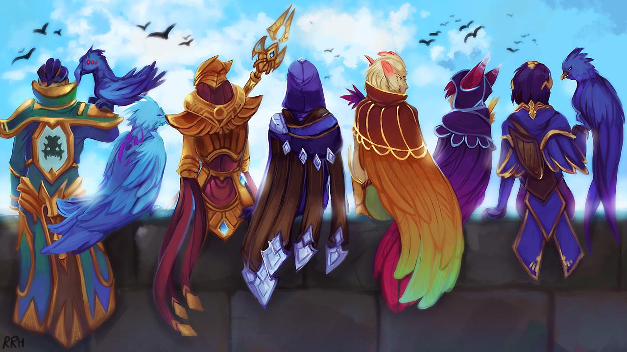 Пернатая компания - League of Legends Xayah, арт