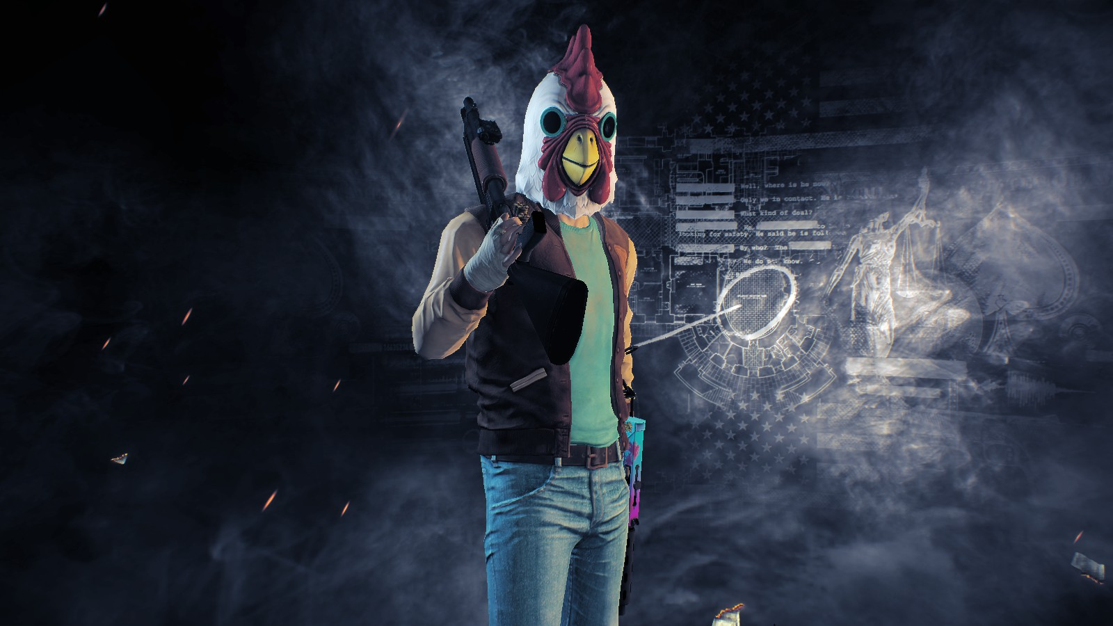 PAYDAY 2 Crossover HOTLINE MIAMI. - Payday 2 Кроссовер