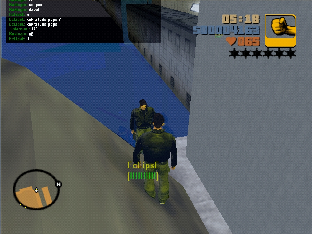С Эклипсом в дыре Mustein'a - Grand Theft Auto 3