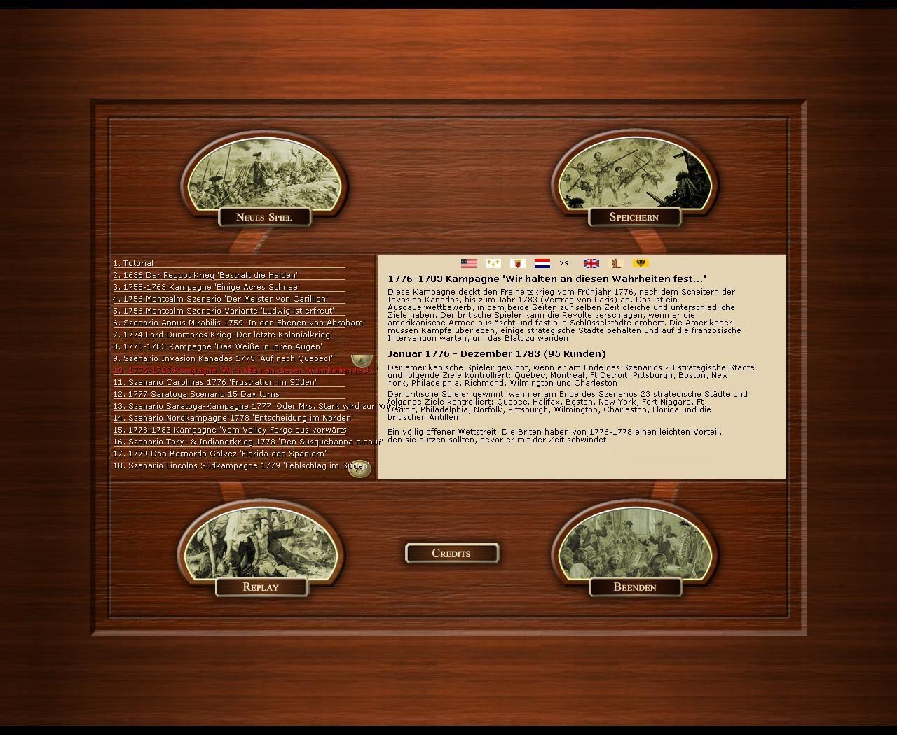 - - Birth of America 2: Wars in America 1750-1815