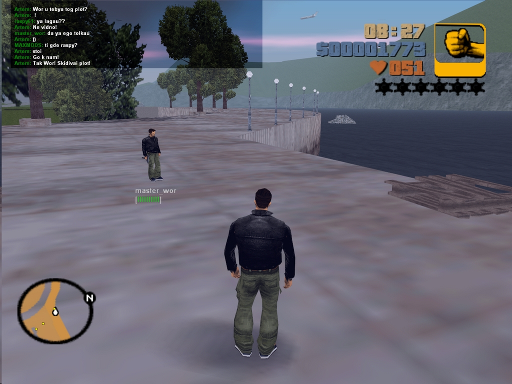Попытка поплавать на плотах - Grand Theft Auto 3