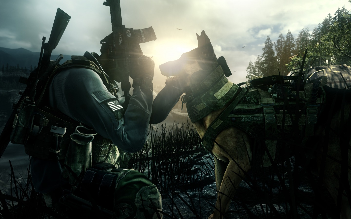 vegetation - Call of Duty: Ghosts Call of Duty: Ghosts, German shepherd, Собака
