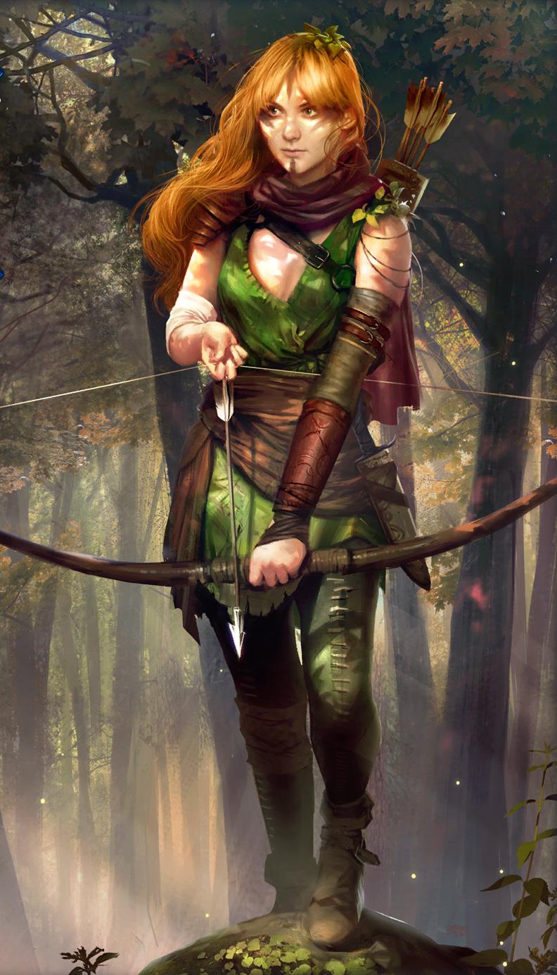 Мона это... сон я Браэнн - Witcher, the арт, Брокилон, дриада