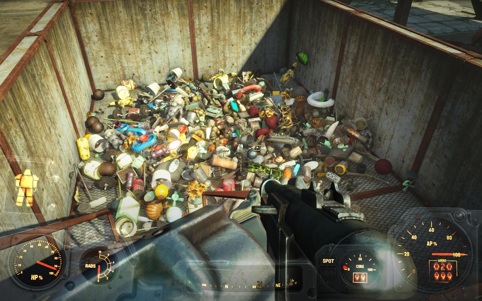 Результаты уборки мусора в Ядер-Мире (Ядер-Мир, Красная ракета) - Fallout 4 Nuka-World, Ядер-Мир