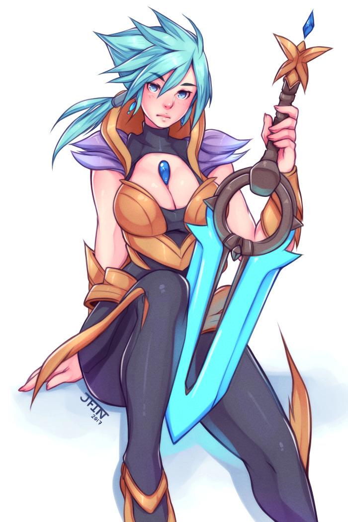 Riven - League of Legends anime art, арт
