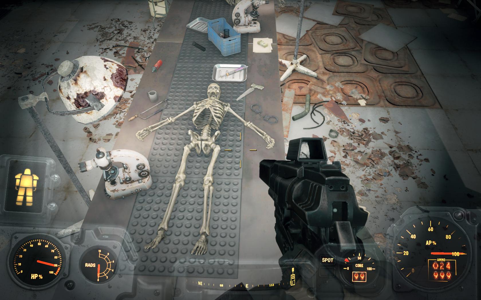 Операция с элементами насилия (Мед-Тек Рисёрч) - Fallout 4 Кость, Скелет