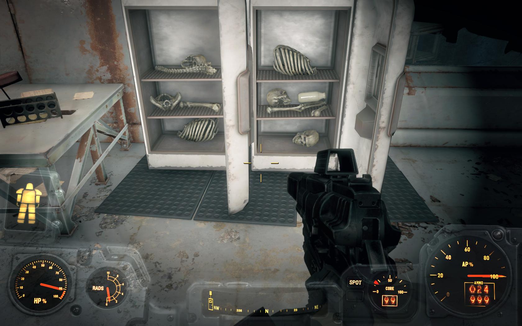 Холодильник полный жрачки - 2 (Мед-Тек Рисёрч) - Fallout 4 Кость, Скелет, Холодильник