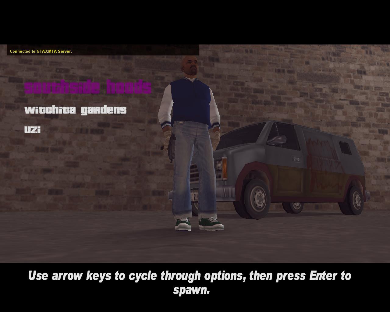 Shoreside spawn skin 1 - Southside Hoods - Grand Theft Auto 3