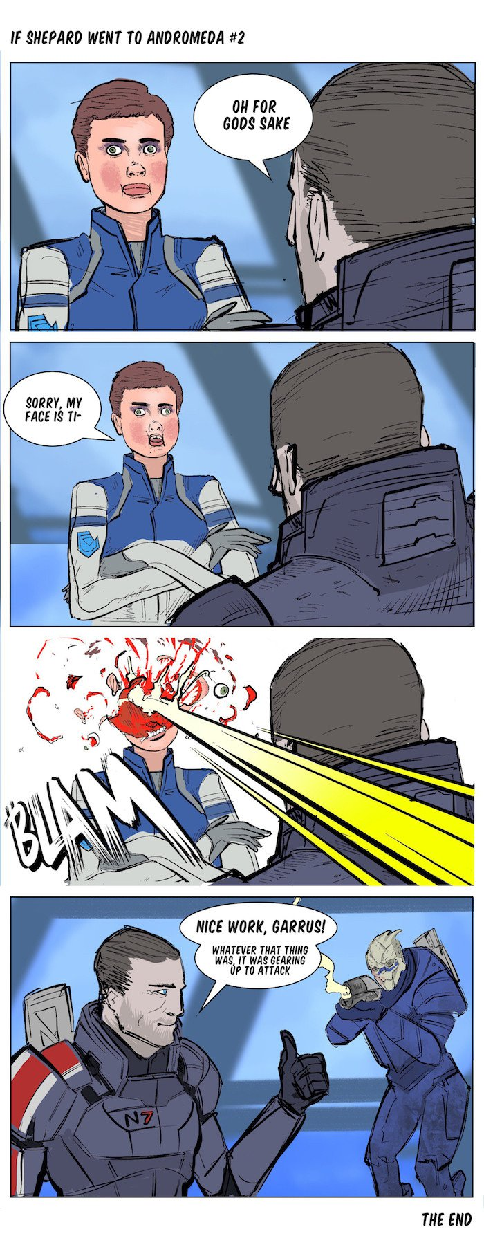 if shepard went to andromeda #2 - Mass Effect: Andromeda