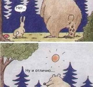 Картинки медведь и заяц приколы