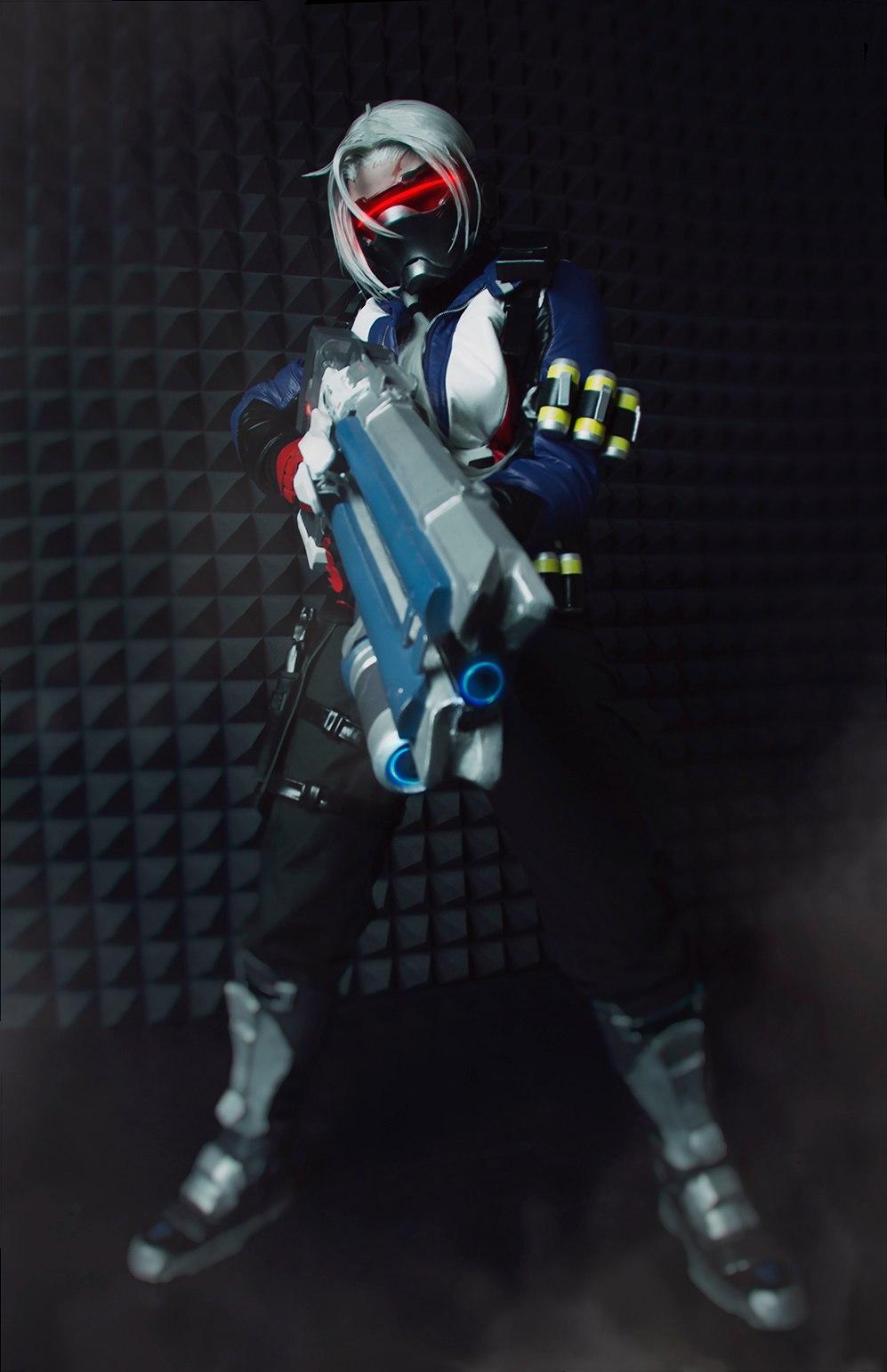 Soldier-76 (fem) - Overwatch cosplay craft soldier76cosplay