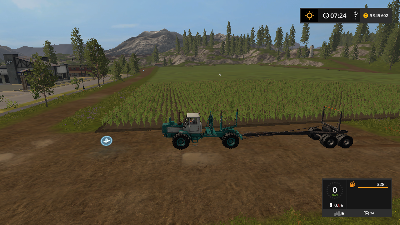 ХТЗ Т-150К лесовоз v 1.0 - Farming Simulator 17 лесовоз, Мод, Транспорт