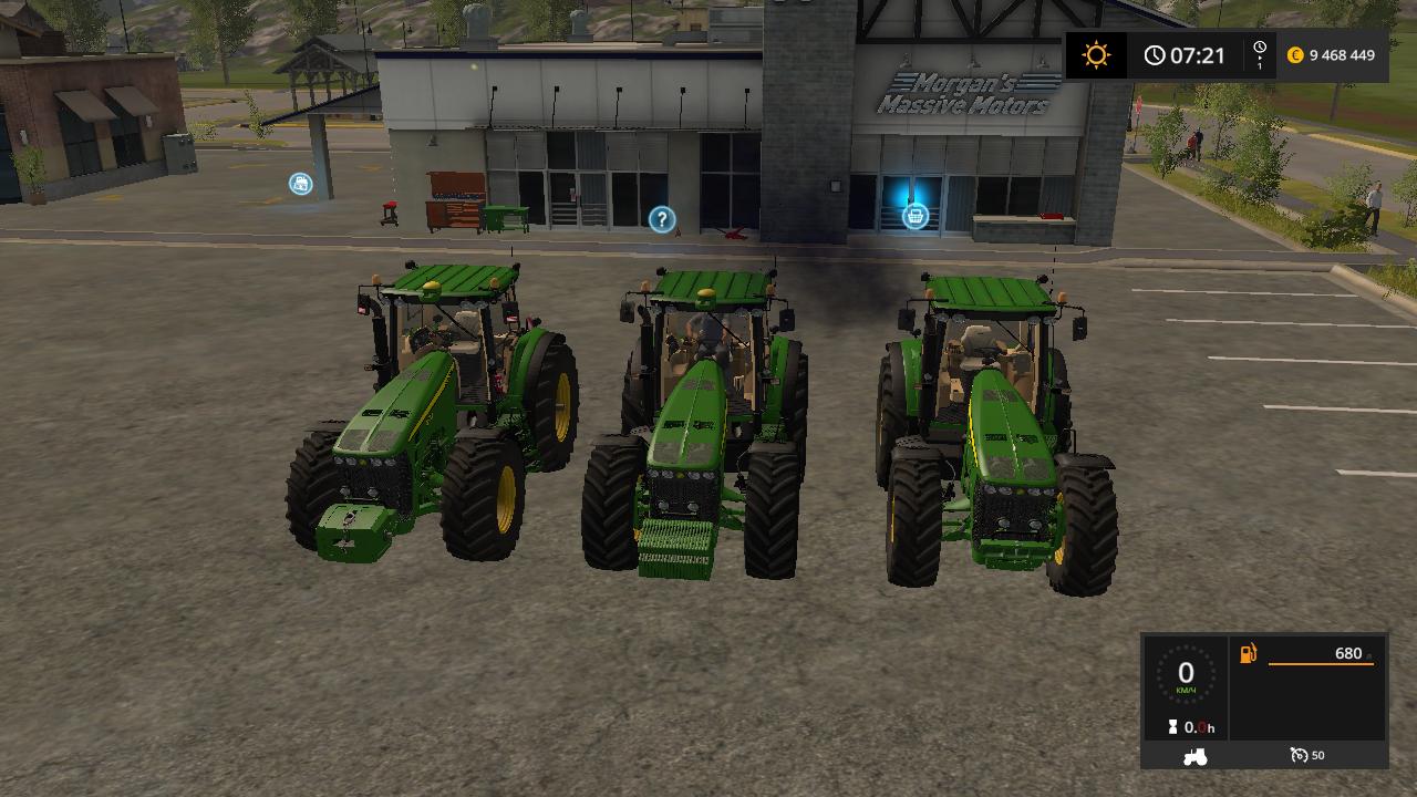 John Deere 8030 v 4.0 - Farming Simulator 17 Мод, Транспорт