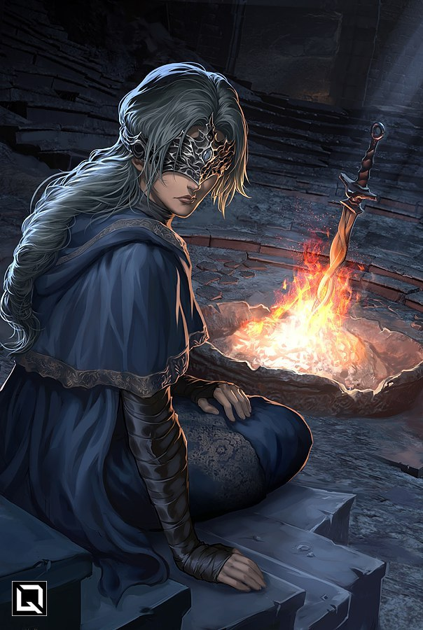 R9fX63m7UG0.jpg - Dark Souls 3 Fire Keeper, Арт