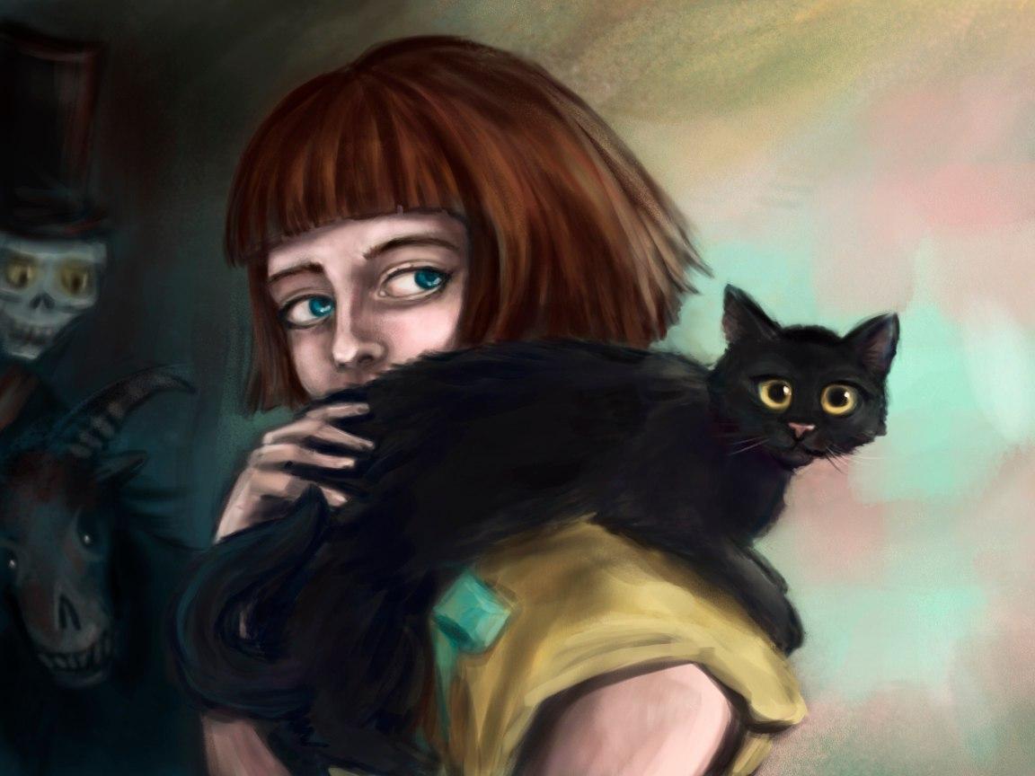 Картинки необычного кота классическая схема