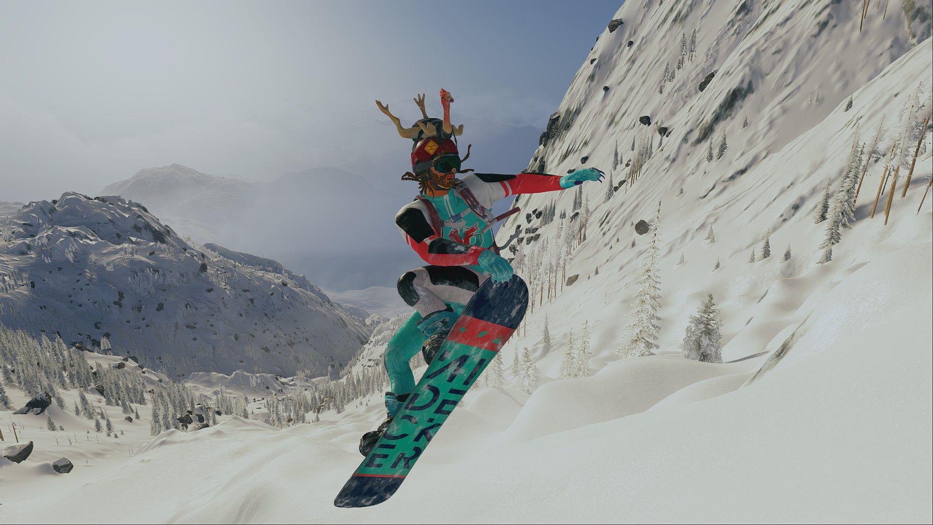 Небо - STEEP sky must die, Snowboard, wingsquit