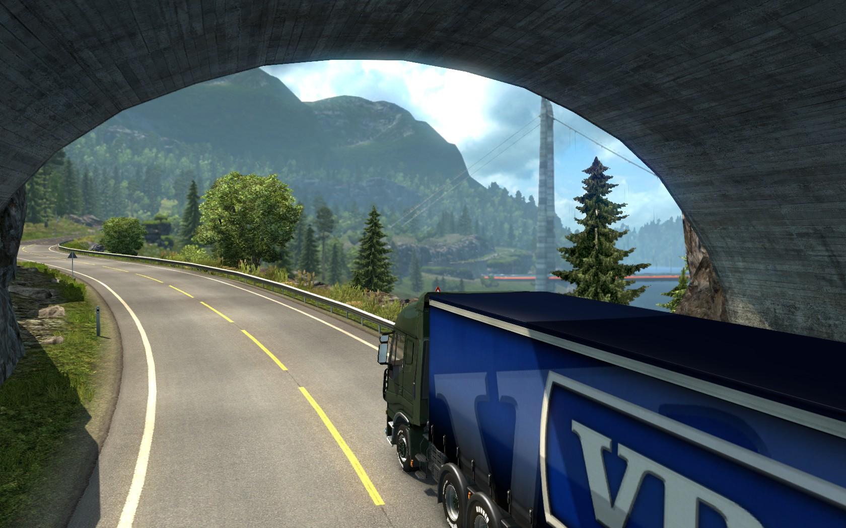 Через Скандинавию автопоездом - Euro Truck Simulator 2 грузовики и прицепы, траксимулятор