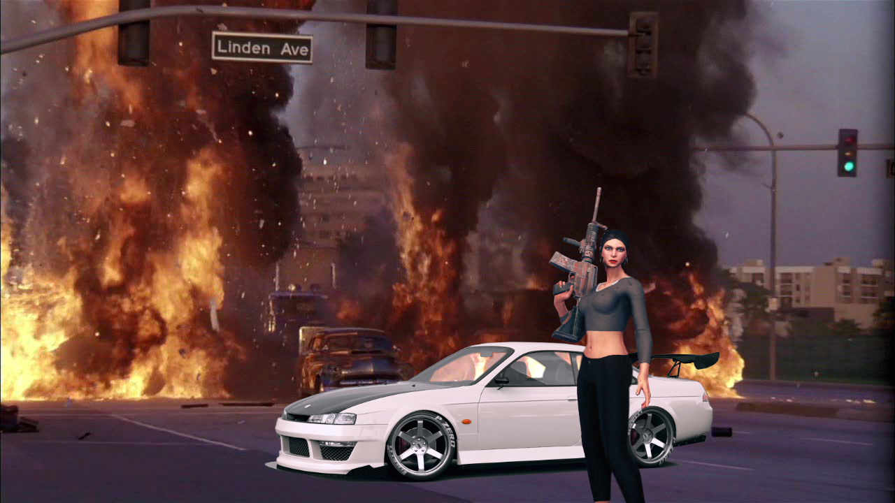 Хотел сделать что-то годное..) - Saints Row 4 Viola Dewynter, Автомобиль, Транспорт, Фотошоп
