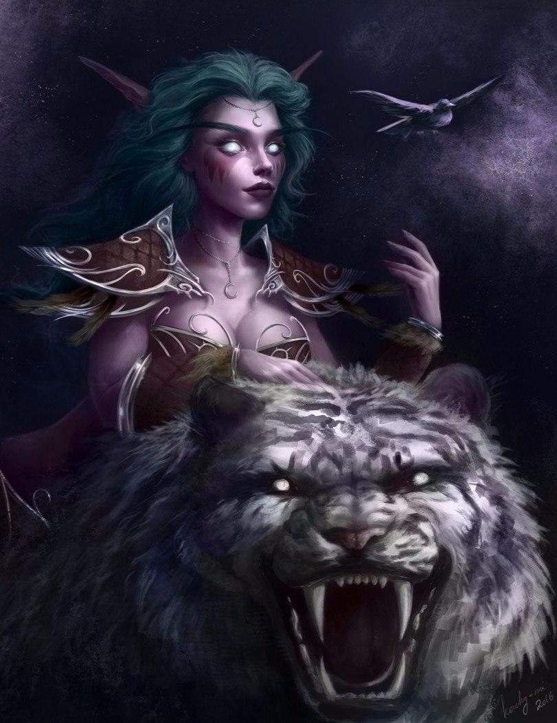 HWuU5ZeOWSM.jpg - World of Warcraft Dark Elf, Арт