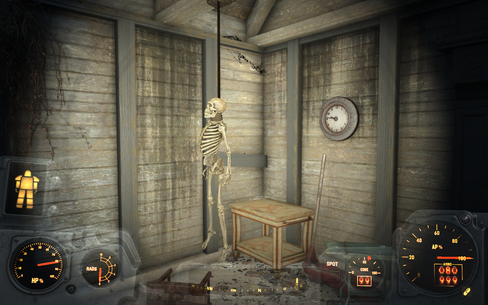 Жизнь не задалась (западнее мотеля Сосны у дороги) - Fallout 4 скелет