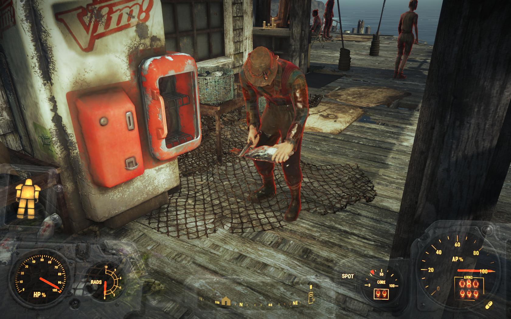 Рыбак - ему не нужен стол для разделки рыбы (Фар-Харбор) - Fallout 4 Баг