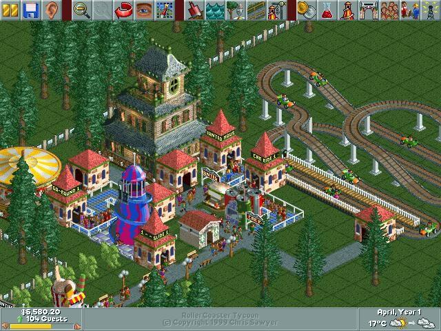Парк развлечений - RollerCoaster Tycoon