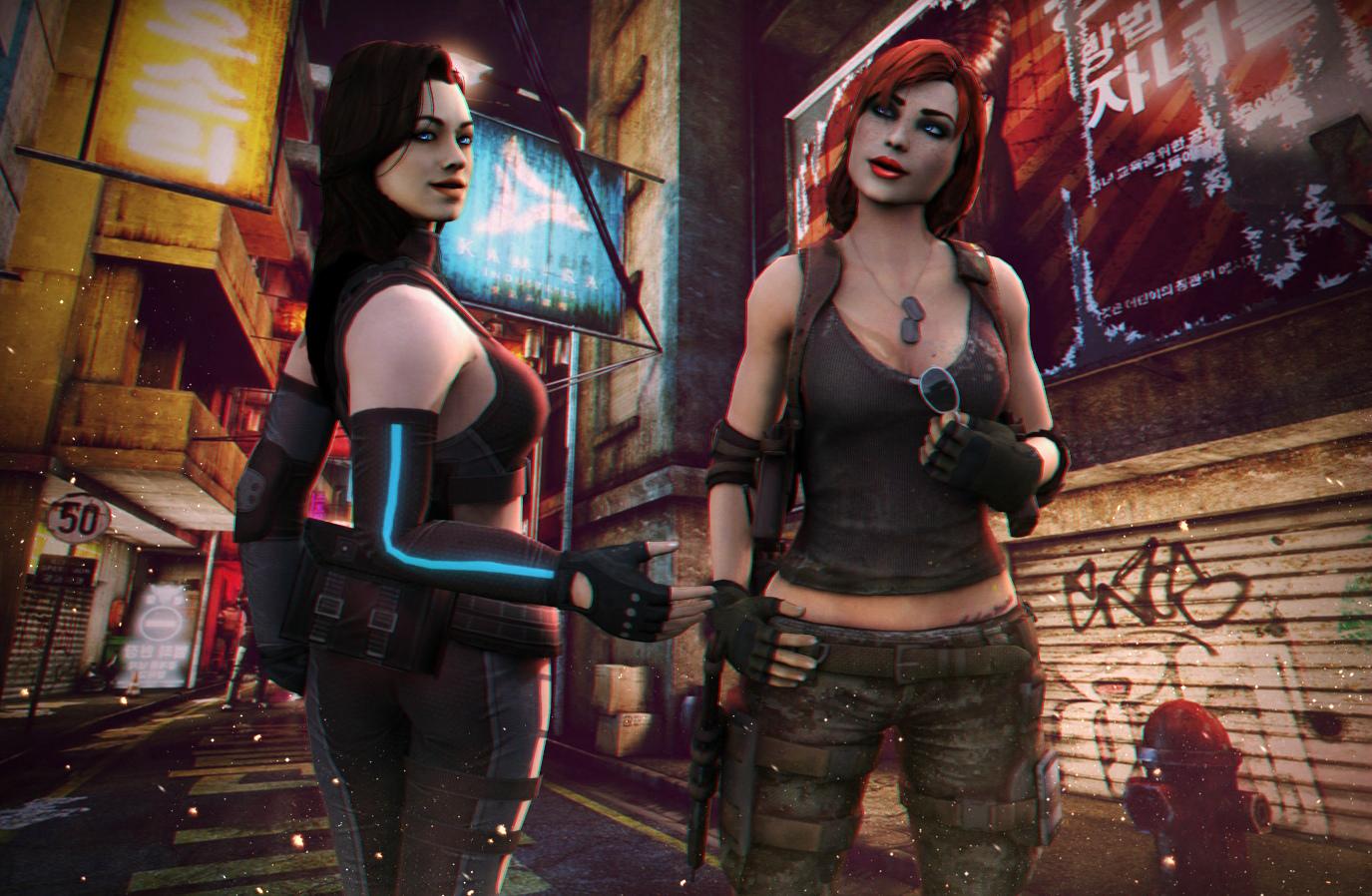 Миранда и Шепард - Mass Effect 3 mass effect 3 миранда, mass effect 3 шепард женщина