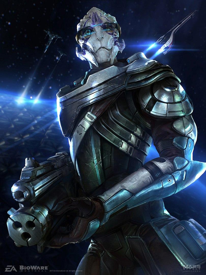 CGv0cjPjXTI.jpg - Mass Effect: Andromeda Turian, Vetra, Арт