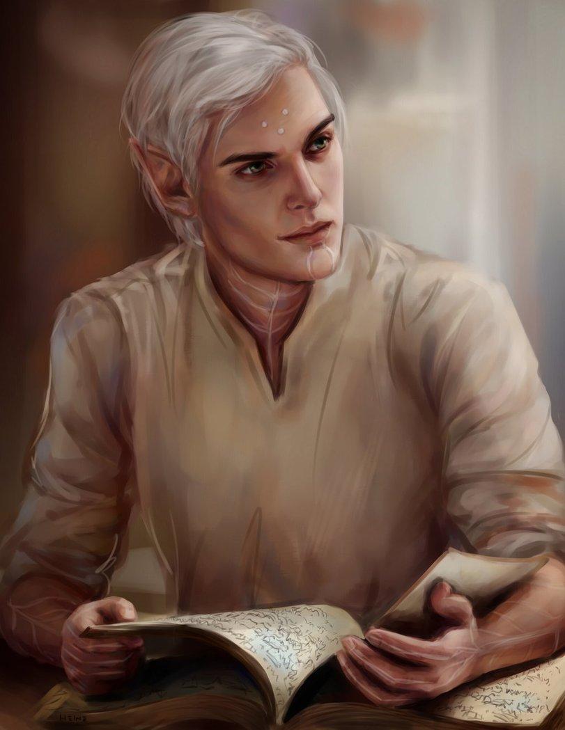 Фенрис учится читать - Dragon Age 2