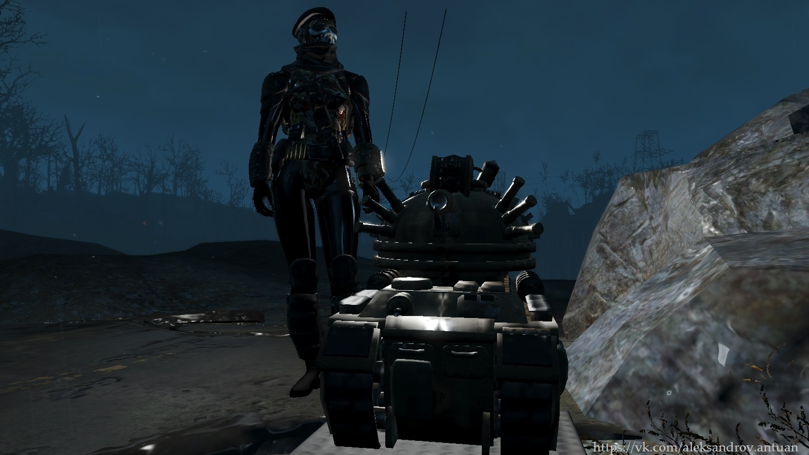 Мини-Танк ... - Fallout 4 automatron sd tank, Лодочный домик Таффингтона, Танк-автоматрон