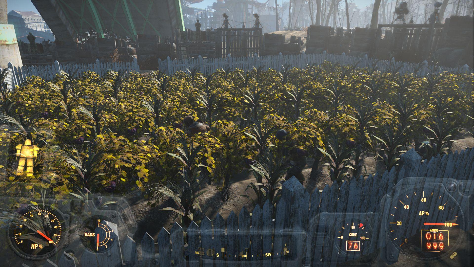 окучивание огорода - Fallout 4 кукуруза, мутафрукт, окучивание, поселенцы, Ферма Финча