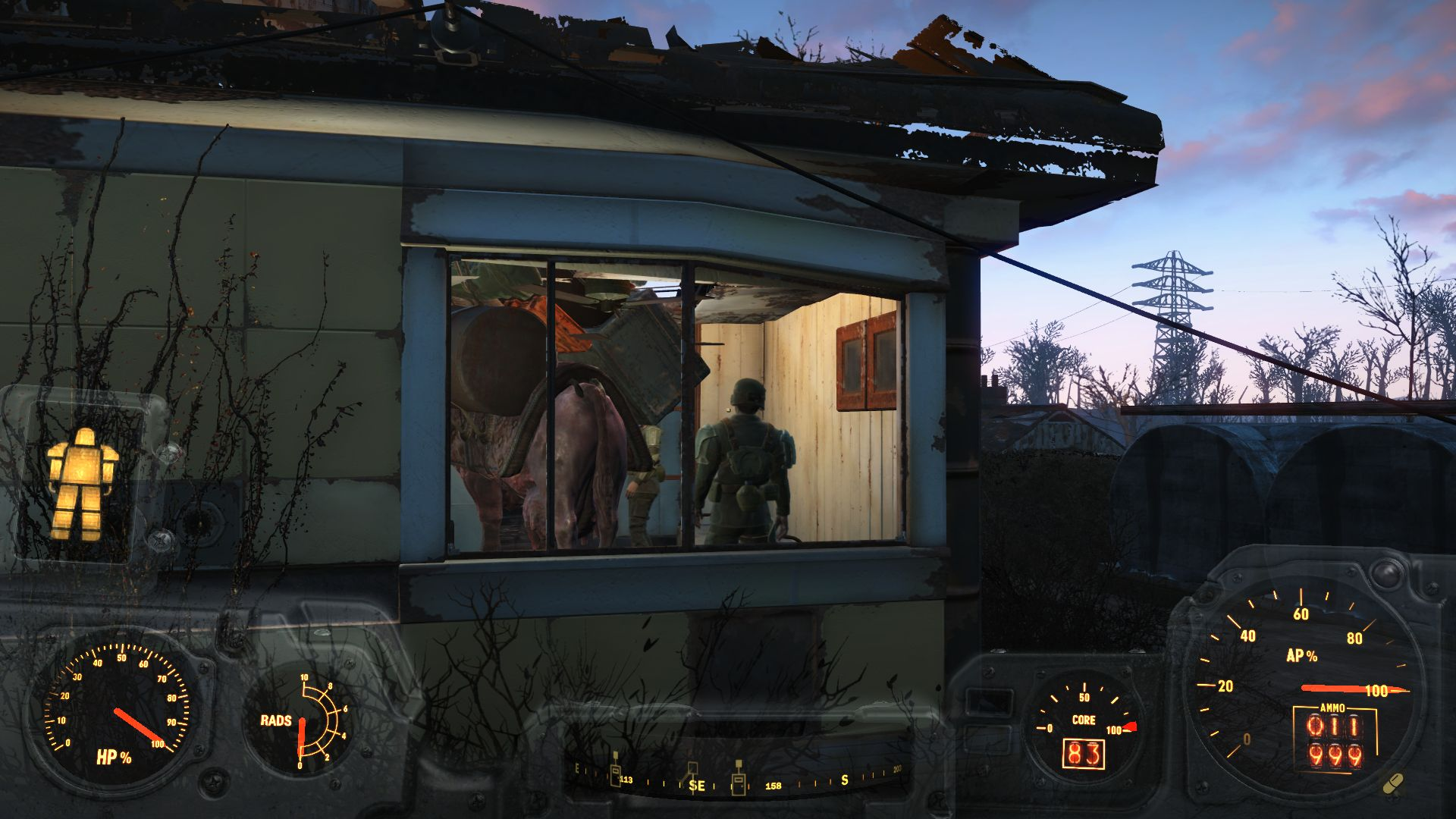 Дом - Fallout 4 баг, брамин, поселение, поселенцы, Сенкчуари