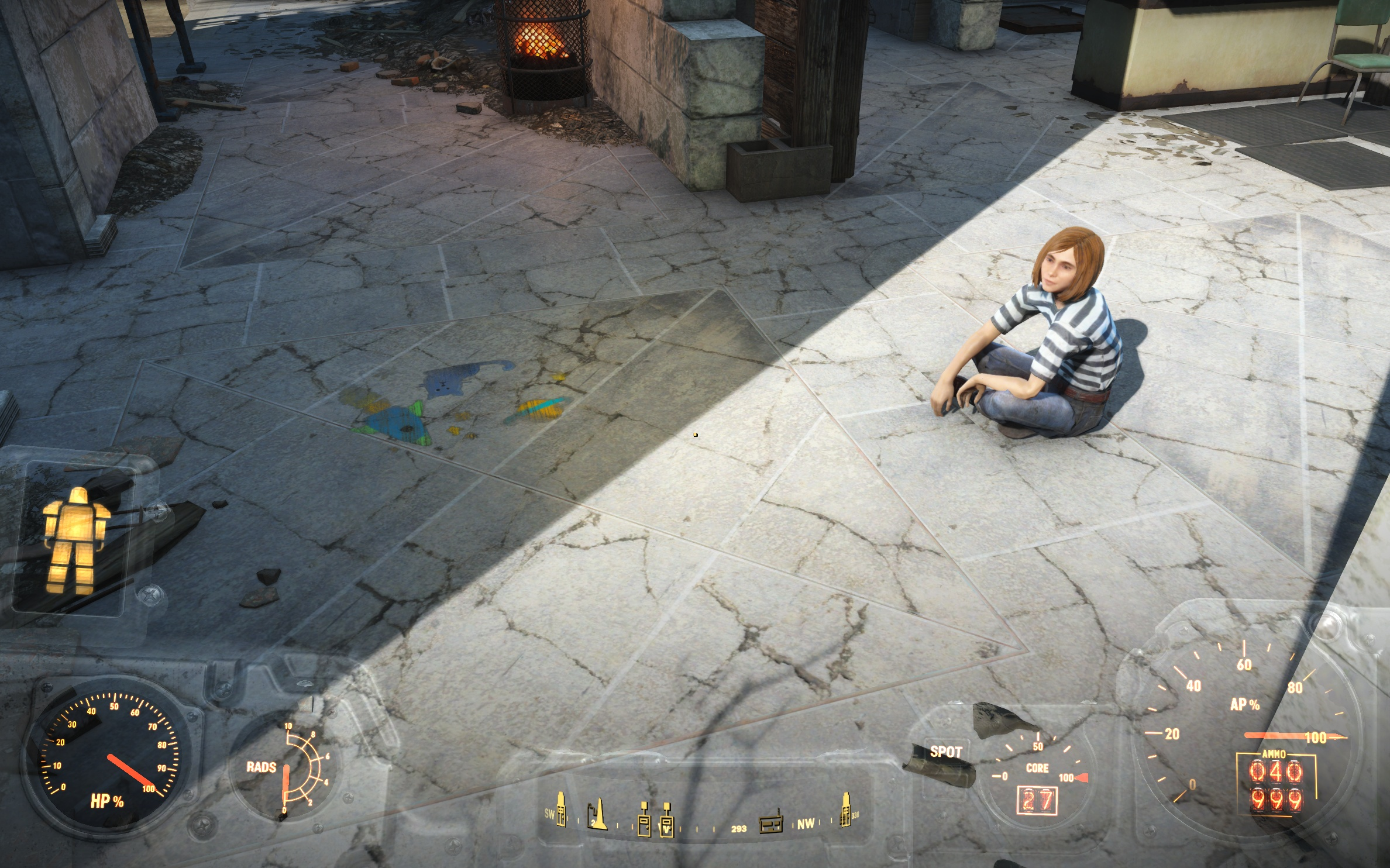 Детский рисунок и Мэг (Банкер-Хилл) - Fallout 4 Мэг