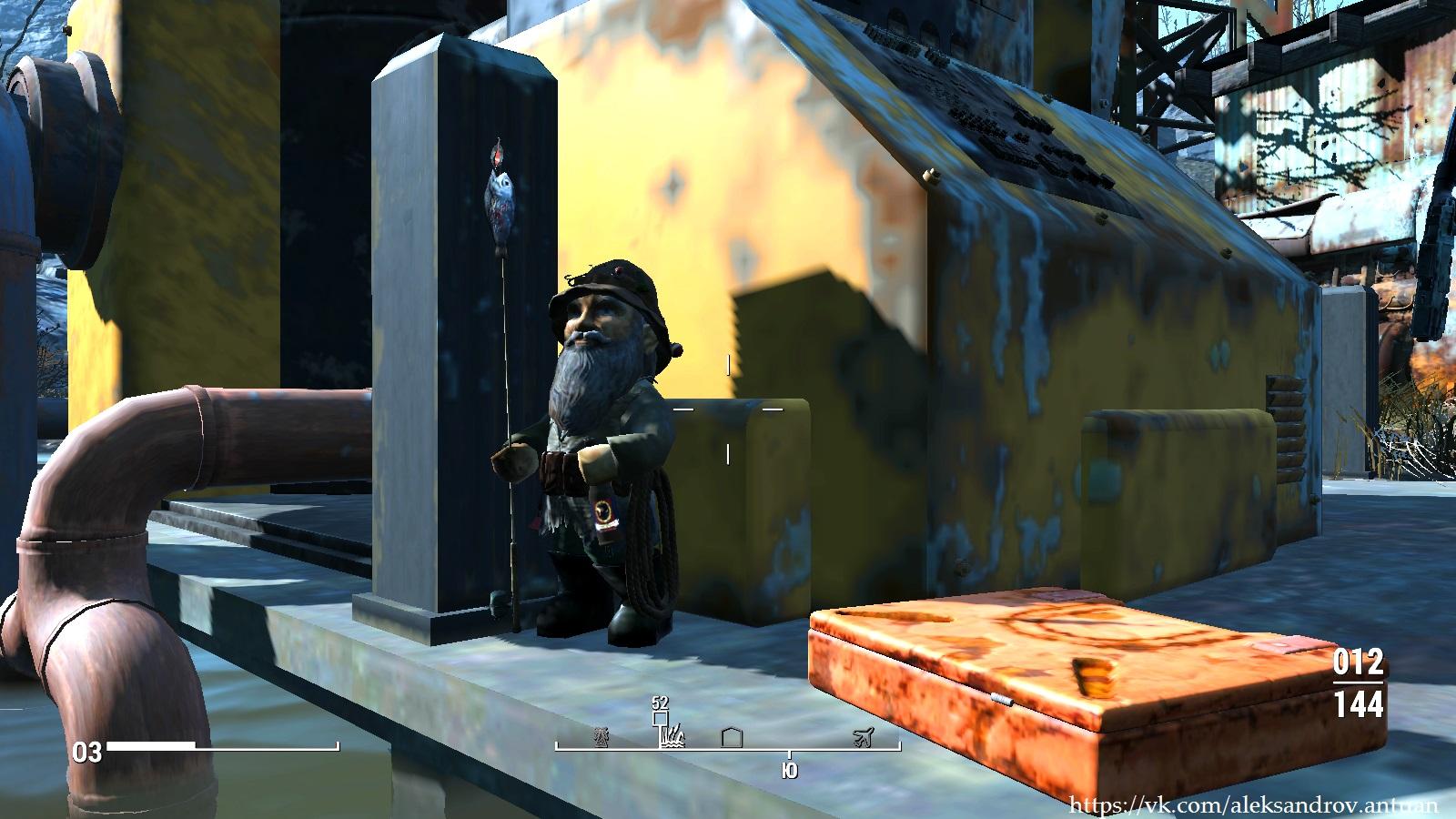 Пьяный гном ... - Fallout 4 озеро Куаннапоуитт, пьяный гном