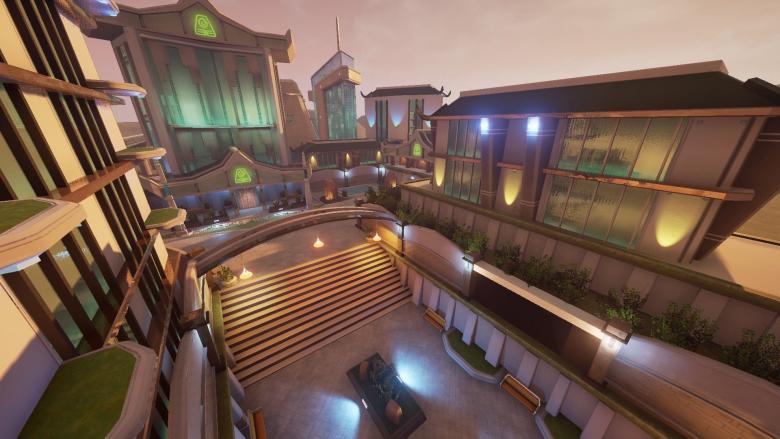 Любительский концепт карт для Overwatch на UE 4 - Шангри-Ла - Overwatch арт, Карта