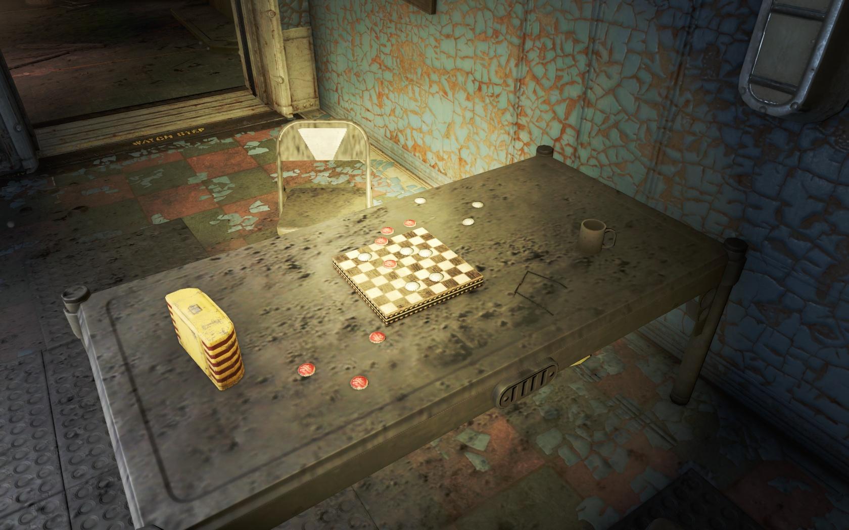 Шашки на деньги (Убежище 95) - Fallout 4 Убежище, Убежище 95