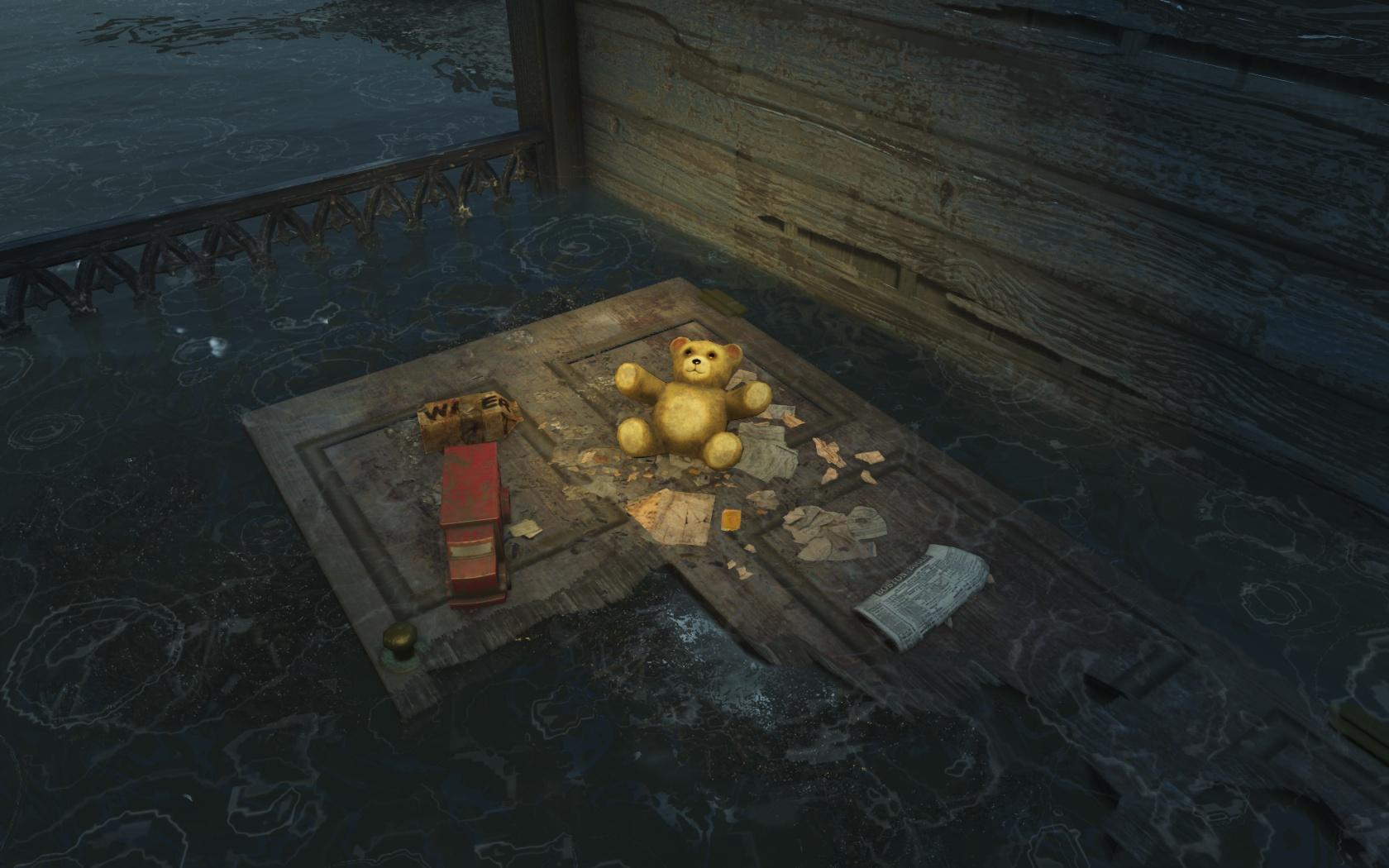 Загорает? (западнее Стройплощадки в Мерквотер) - Fallout 4 Стройплощадка в Мерквотер