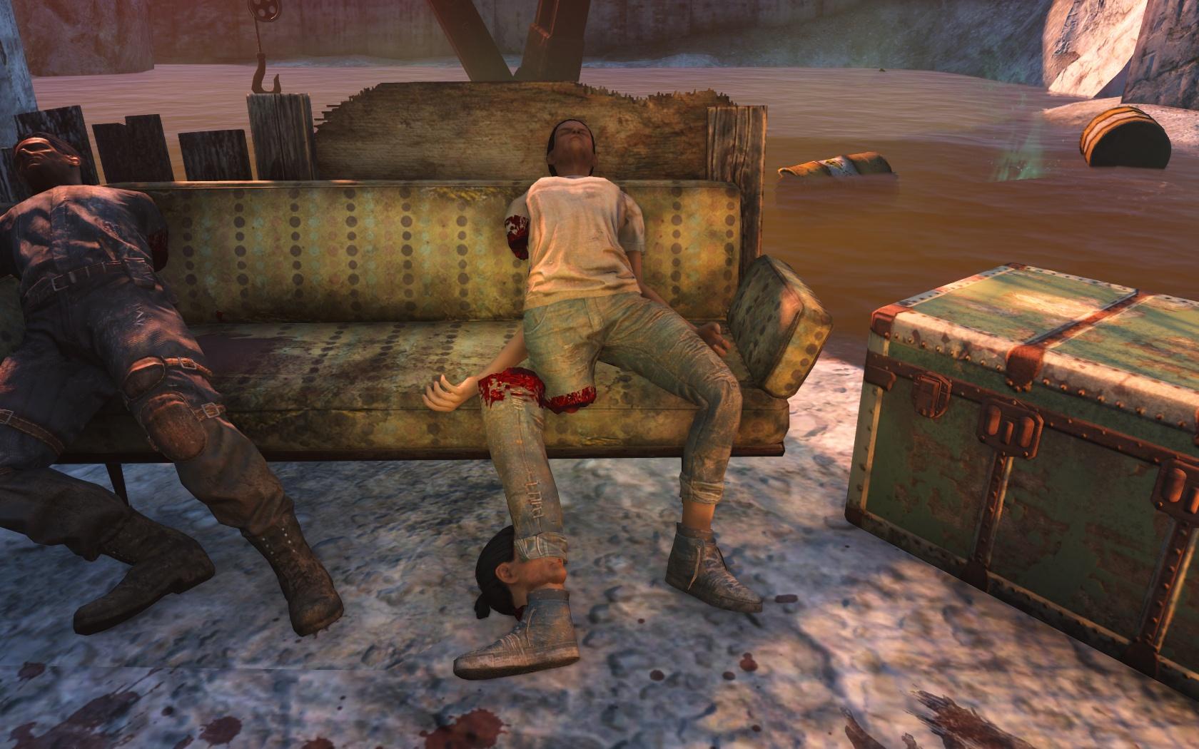 Головоногая (у входа в убежище 88) - Fallout 4 Баг, убежище, Убежище 88