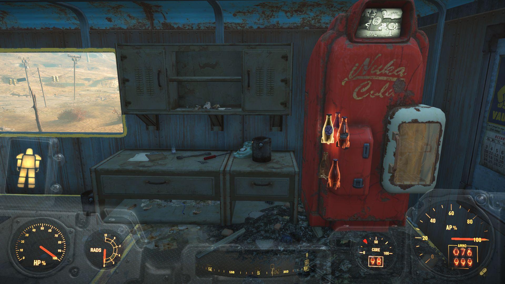 бутылки неправильно сложились - Fallout 4 баг, бутылки, кола