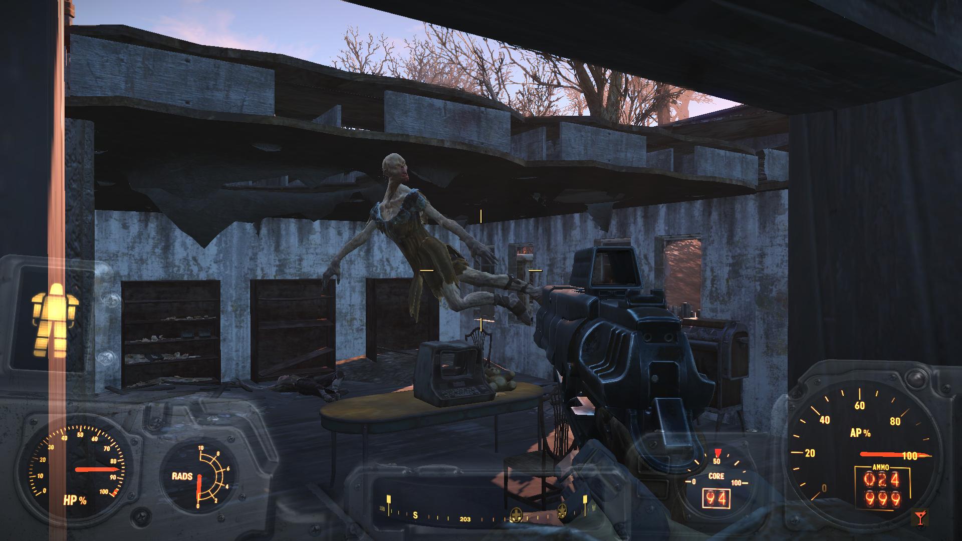 Полёт шмеля - Fallout 4 дикий гуль, стоянка домов на колесах, баги