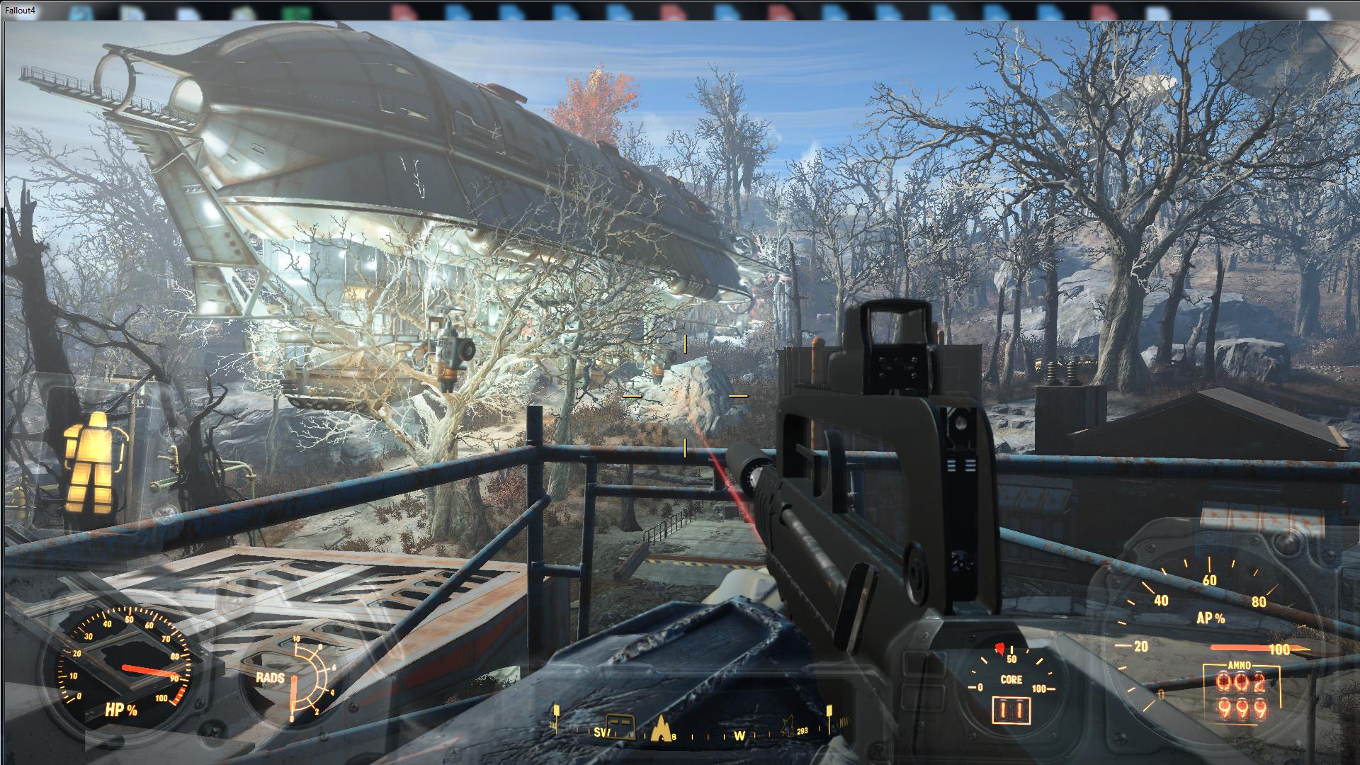 Низкий полёт придвена 1 - Fallout 4