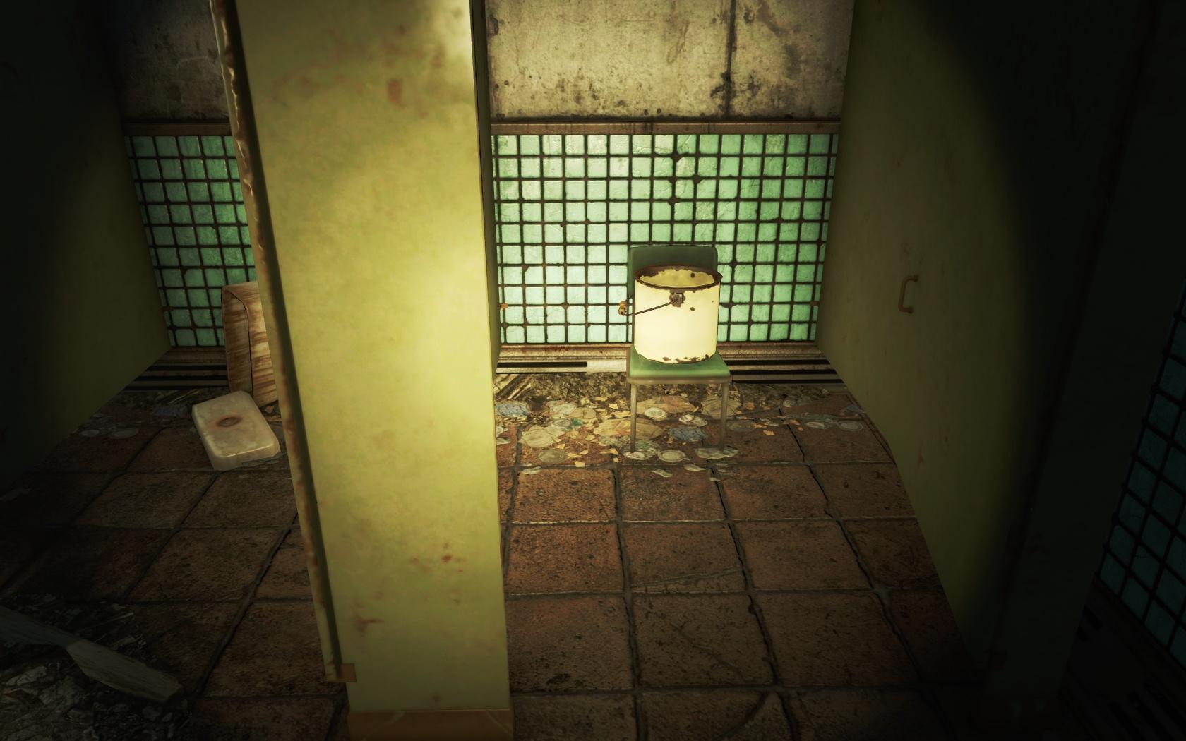 Если все кабинки заняты, но очень нужно... (Станция Парк-стрит) - Fallout 4 Парк-стрит, Станция, Станция Парк-стрит
