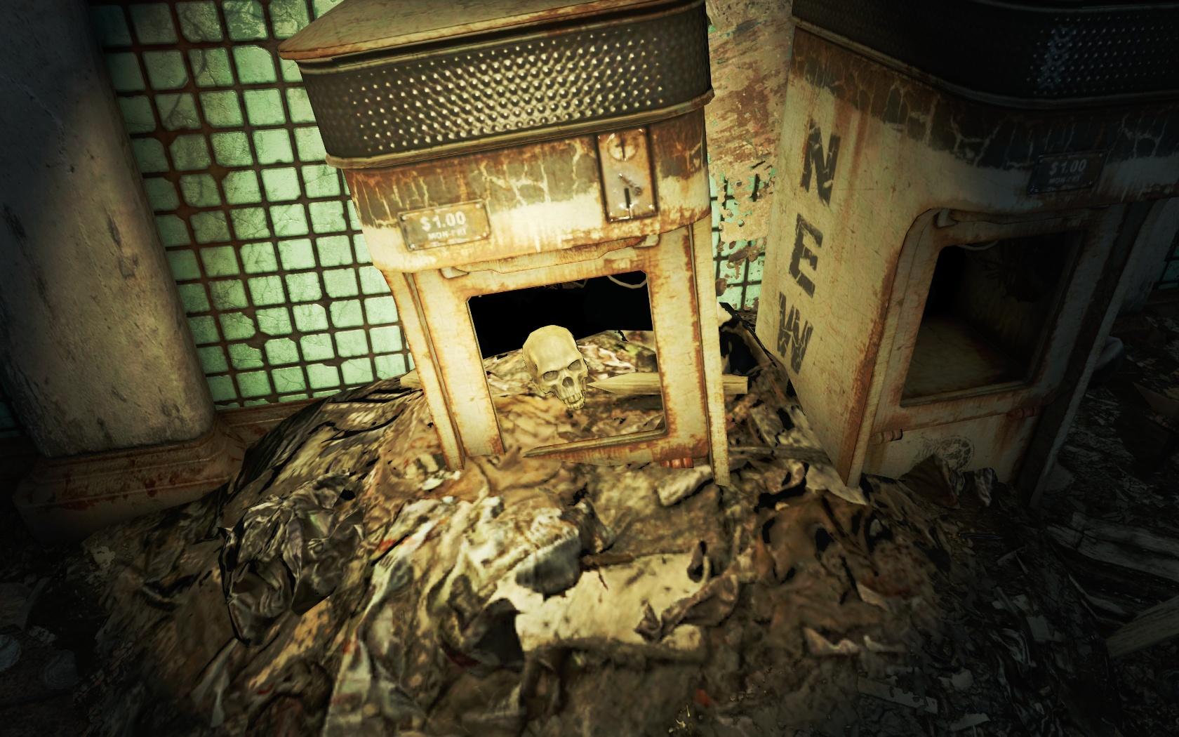Газетный киоск с сюрпризом (Станция Парк-стрит) - Fallout 4 Газетный киоск, Парк-стрит, Станция, Станция Парк-стрит