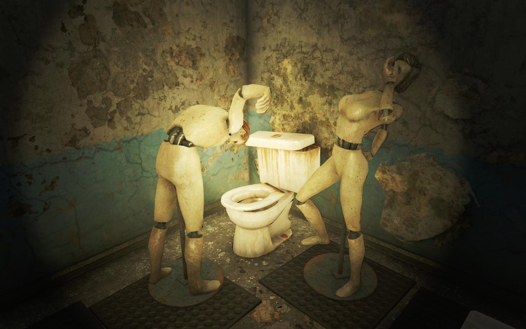 Пьяные танцы (Ядер-Мир, Гриль-бар Физзтоп) - Fallout 4 Nuka-World, Гриль-бар, Гриль-бар Физзтоп, манекен, Физзтоп, Ядер-Мир