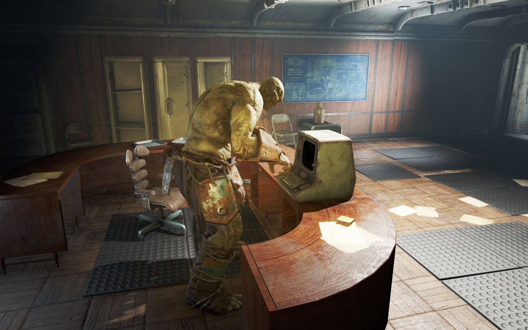 Силач что-то понимает в компьютерах (Убежище 114) - Fallout 4 Силач, супермутант, Убежище, Убежище 114