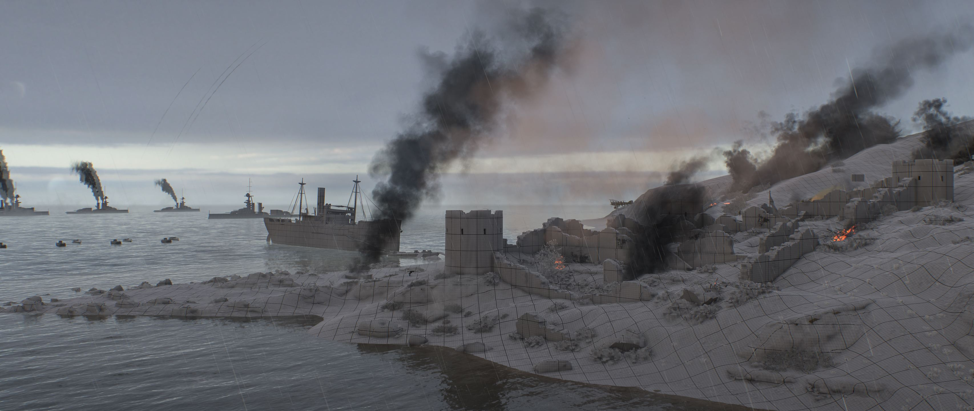 Battlefiled 1. Turning Tides - Мыс Геллес - Battlefield 1 DLC, Арт