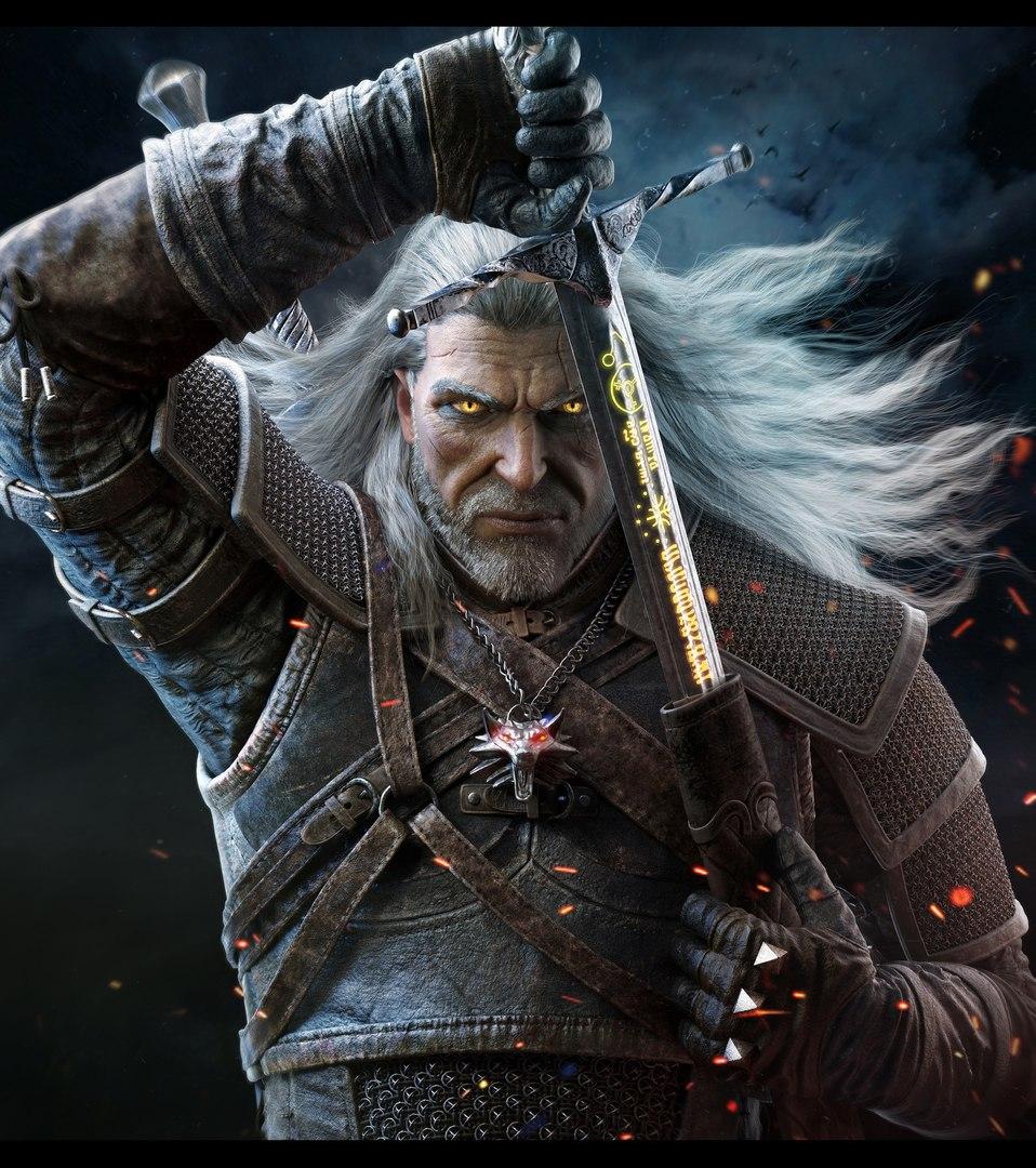 Геральт - Witcher 3: Wild Hunt, the Арт, Персонаж